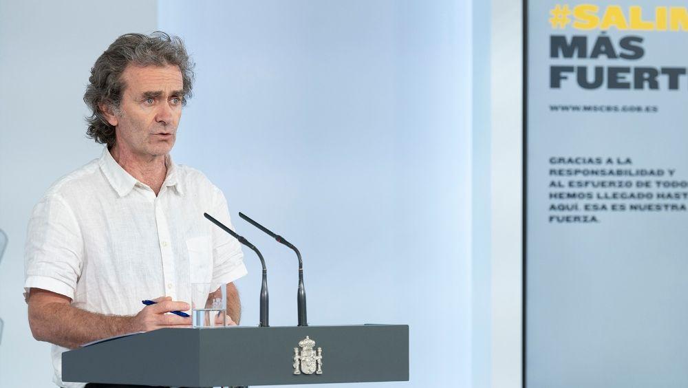 El director del CCAES, Fernando Simón. (Foto. Pool Moncloa / JM Cuadrado)