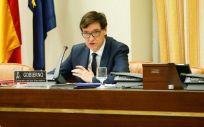 El ministro de Sanidad, Salvador Illa, interviniendo en la Comisión de Sanidad (Foto: Congreso)