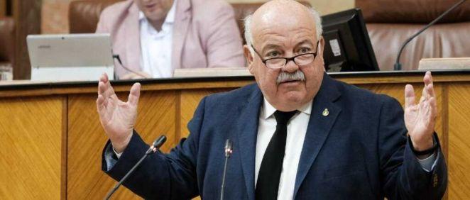 El consejero de Salud y Familias de la Junta de Andalucía, Jesús Aguirre. (Foto. Junta)