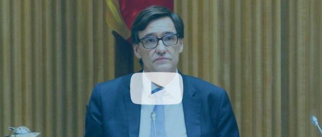 Salvador Illa, ministro de Sanidad, en la Comisión de Sanidad del Congreso (Foto. Flickr PSOE)
