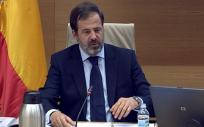 Carlos Rus, presidente de Alianza de la Sanidad Privada Española (ASPE), durante su intervención en la Comisión para la Reconstrucción Social y Económica.
