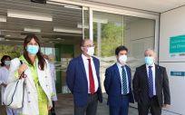 El presidente de Aragón, Javier Lambán, visita Centro de Salud de Los Olivos de Huesca