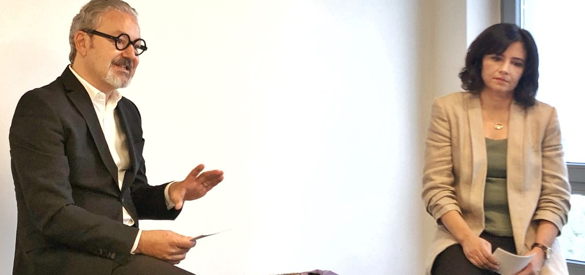 Eduardo Barriga, director general de Borion y Sylvaine Balmy, responsable de comunicación científica de la compañía (Foto. Boiron)