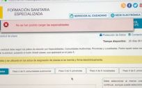 Plataforma para la solicitud electrónica de las plazas MIR y FSE. (Foto cedida @giuliadradi)