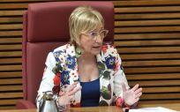 Ana Barceló en la comparecencia de la Comisión de Sanidad (Foto. Gobierno de la Comunidad Valenciana)