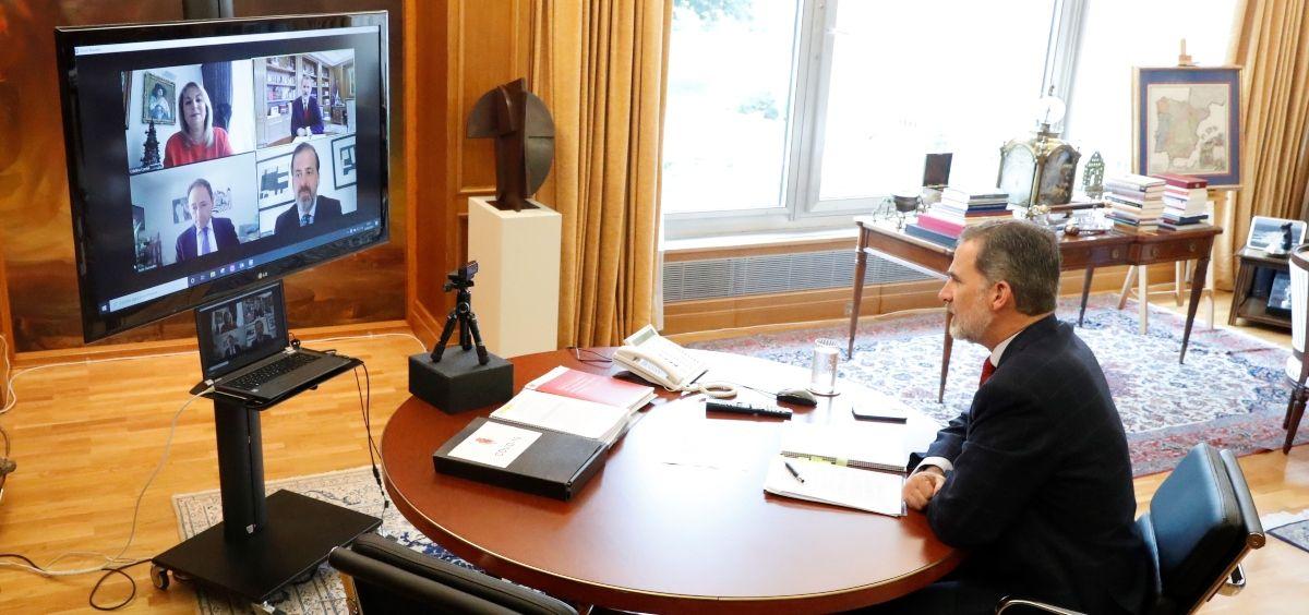 Audiencia entre ASPE y S.M Felipe VI (Foto. ConSalud)