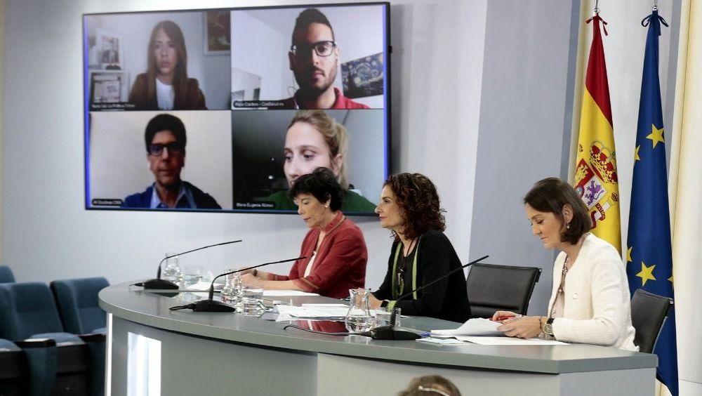 Rueda de prensa posterior al Consejo de Ministros (Foto: Pool Moncloa / JM Cuadrado)