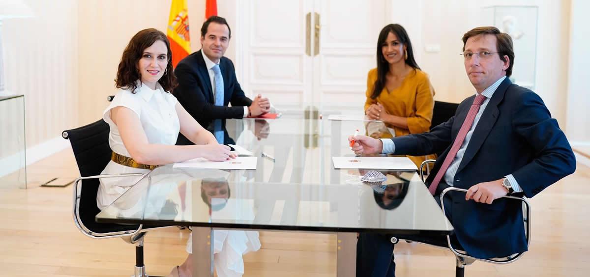 Reunión bilateral entre la Comunidad de Madrid y el Ayuntamiento de Madrid (Foto. Comunidad de Madrid)