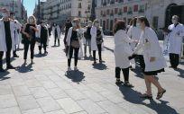 Concentración de médicos en la Puerta del Sol