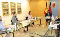 El jefe del Ejecutivo autonómico, Fernando López Miras, presidió hoy la reunión de constitución del Comité de Seguimiento poscovid de la Región de Murcia (Foto. CARM)