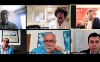 Videconferencia entre los representantes de CESM Galicia y del PSdeG PSOE. (Foto. CESM)