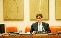 Salvador Illa, ministro de Sanidad, interviniendo en la Comisión de Sanidad del Congreso (Foto: Congreso)