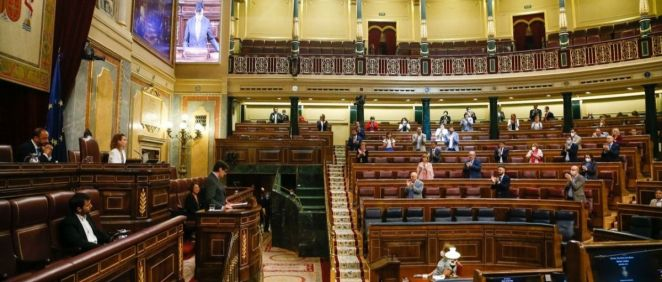 El pleno del Congreso de los Diputados durante el debate del RD de nueva normalidad (Foto: Congreso)