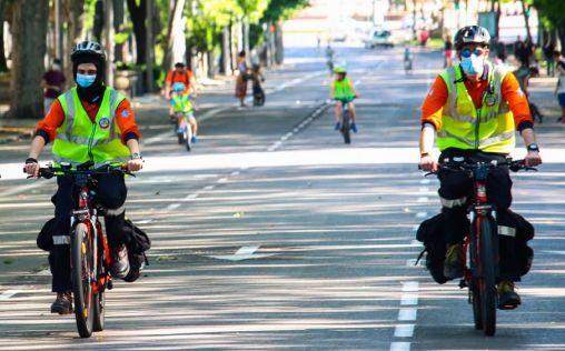 La Unidad Lince de Samur-PC, punta de lanza ciclista frente a las emergencias sanitarias de Madrid
