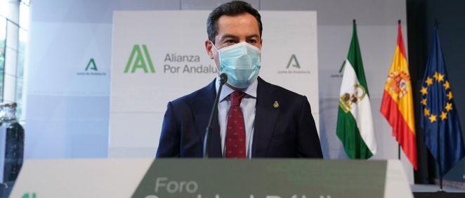 El presidente de la Junta de Andalucía, Juanma Moreno (Foto. ConSalud)