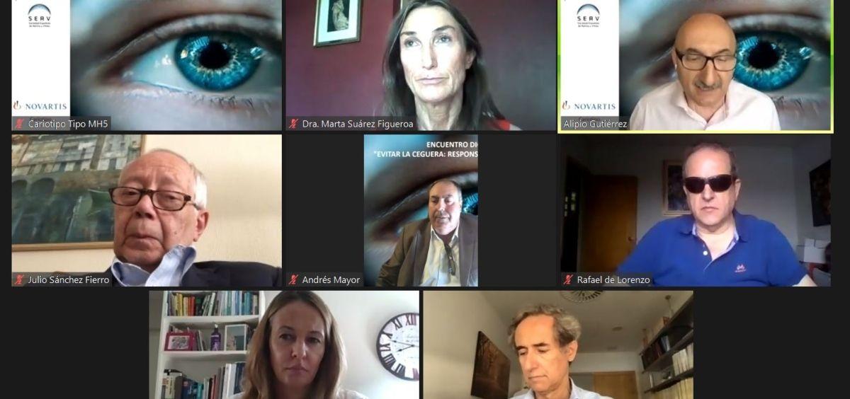 """Encuentro digital """"Evitar la ceguera  responsabilidad de todos"""" (Foto. Novartis)"""