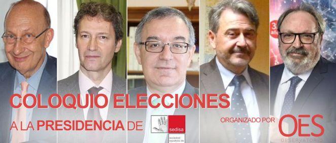 De izq. a dcha.: José María Martínez, Carlos Alberto Arenas, José Soto, Modoaldo Garrido y Juan Blanco.
