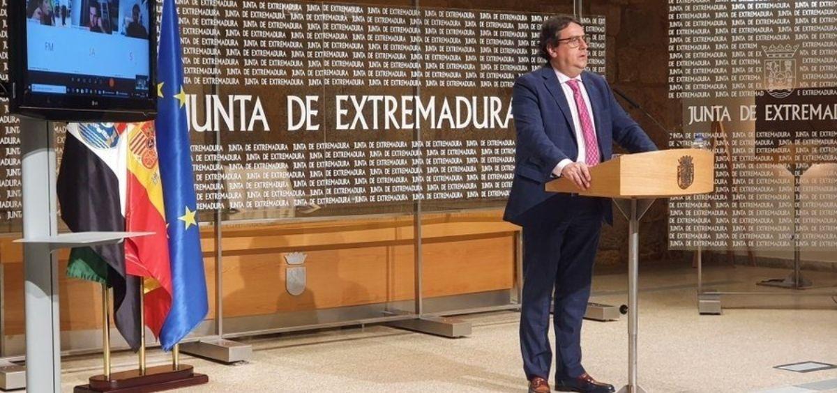 El vicepresidente segundo y consejero de Sanidad y Servicios Sociales de Extremadura, José María Vergeles (Foto. EP)