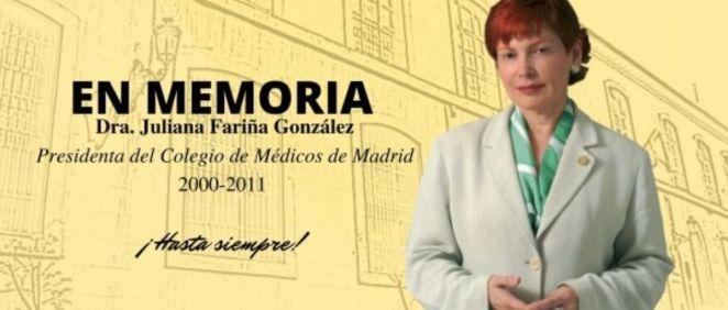 Juliana Fariña González fue presidenta del Icomem desde el año 2000 hasta 2011.