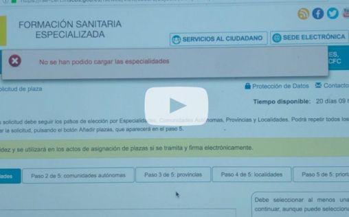 """Fallos en la elección de plazas telemática, toda una """"odisea"""" para los MIR"""