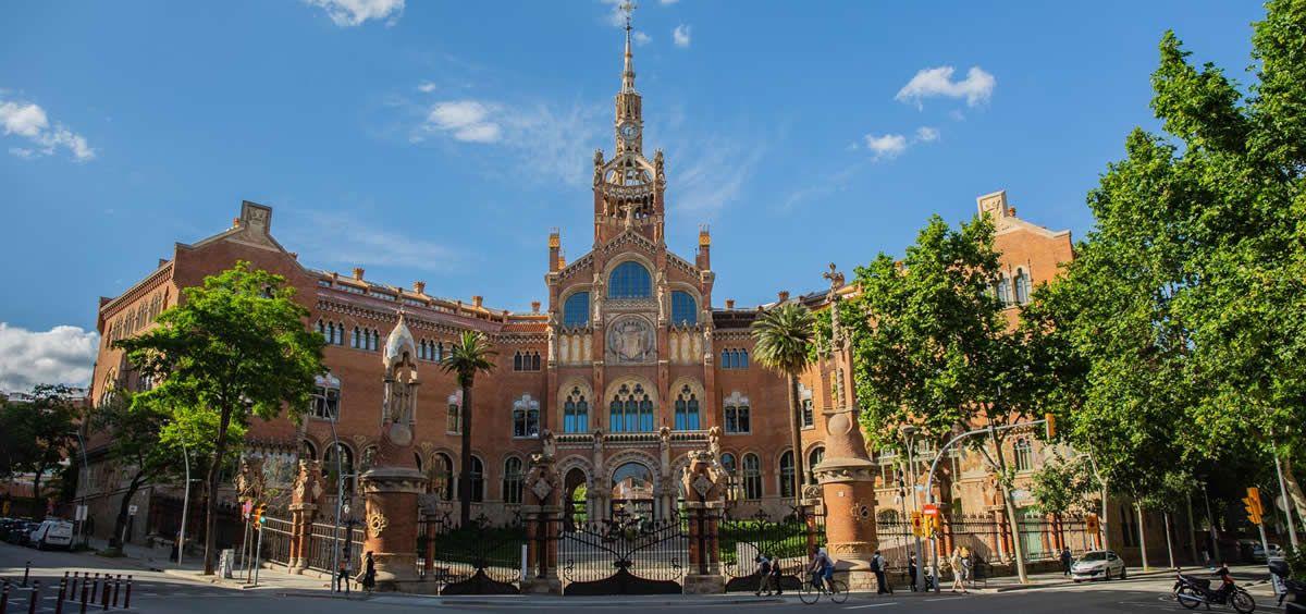 Fachada del Hospital de la Santa Creu i Sant Pau (Foto. David Zorrakino - Europa Press)