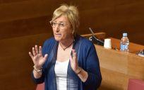 La consejera de Sanidad, Ana Barceló, en las Cortes valencianas. (Foto. Flickr Corts Val)