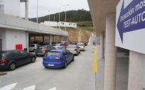 Pruebas de COVID 19 desde el coche en Burela. (Foto. Carlos Castro   Europa Press)