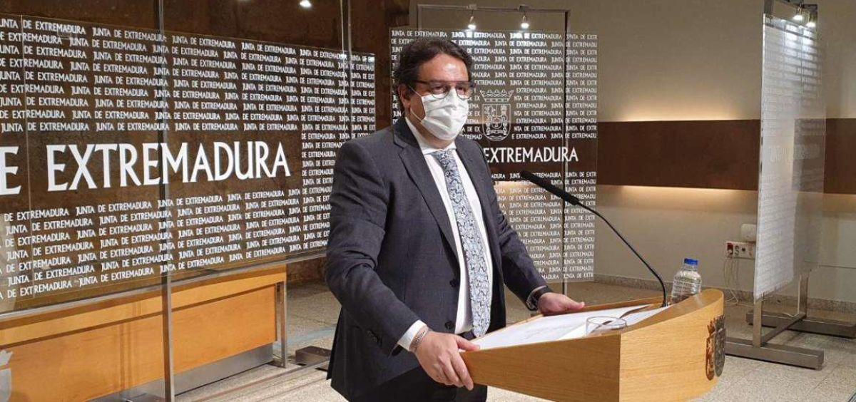 José María Vergeles, vicepresidente segundo y consejero de Sanidad y Servicios Sociales de la Junta de Extremadura (Foto. Junta de Extremadura)