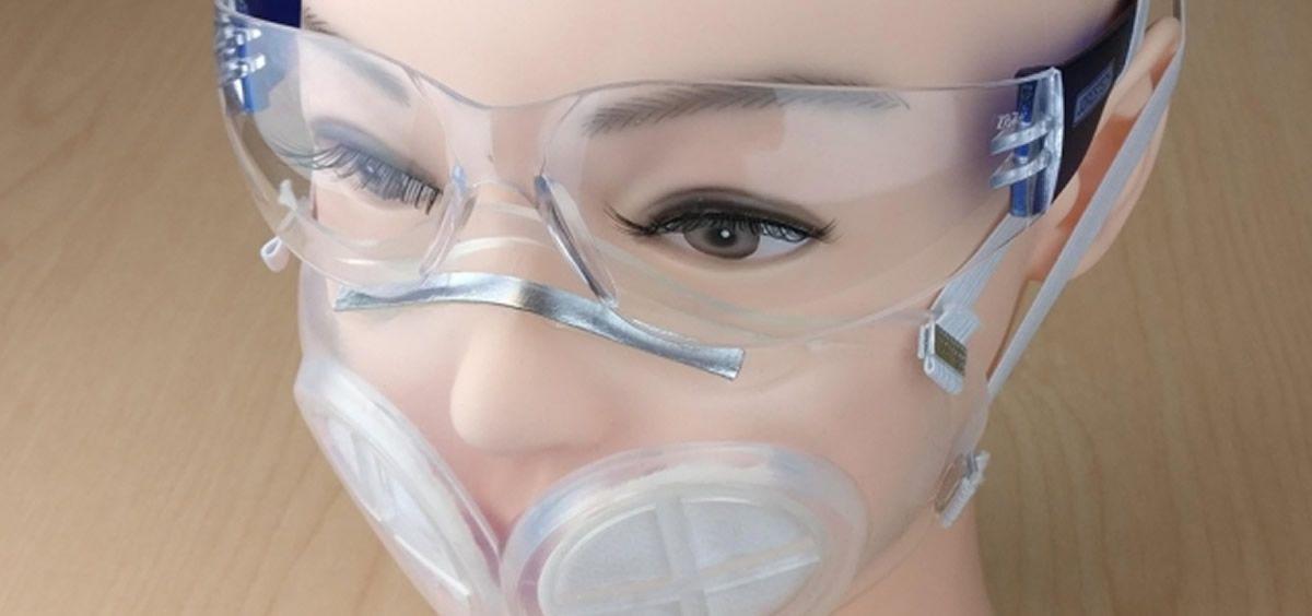 Investigadores diseñan una mascarilla de goma de silicona reutilizable. (Foto. MIT y del Hospital Brigham and Women's)