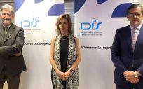 Ángel de Benito, Juan Abarca y Marta Villanueva (Foto. IDIS)