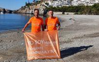 El reto está teniendo lugar en la costa de Granada (Foto. Héroes hasta la Médula)