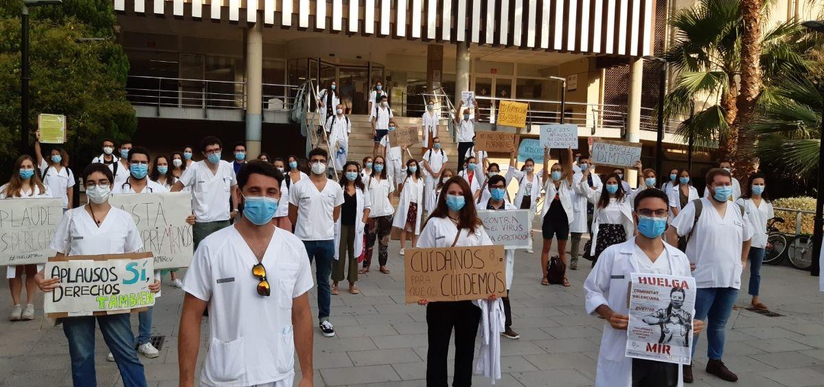Protestas de los MIR de la Comunidad Valenciana. (Foto. @HuelgaMIRCV)