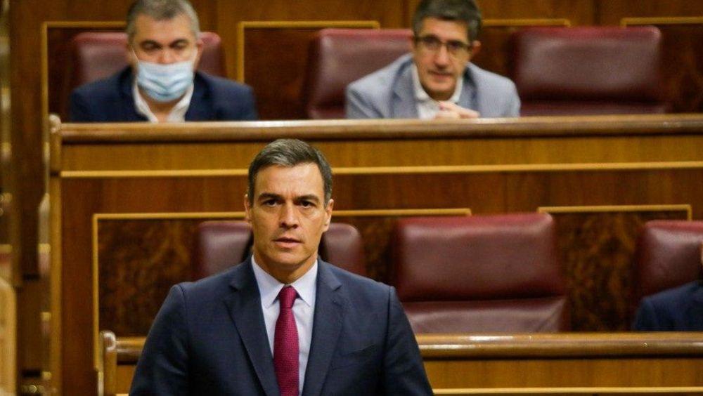 Pedro Sánchez, en el Congreso durante la sesión de control (Foto. Congreso de los Diputados)