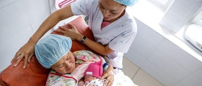 Maternidad en tiempos de Covid 19 (Foto. EP)