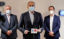 Enrique Ruiz Escudero, durante el acto en homenaje al sector hotelero por su contribución ante la crisis del coronavirus