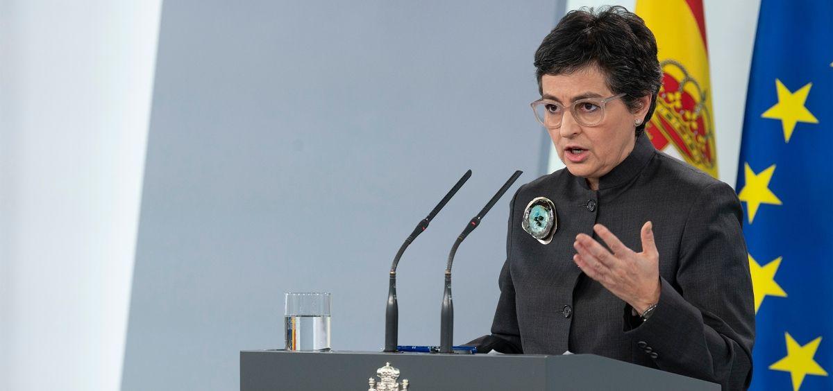 La ministra de Asuntos Exteriores, Unión Europea y Cooperación, Arancha González Laya. (Foto. Pool Moncloa / Borja Puig de la Bellacasa)