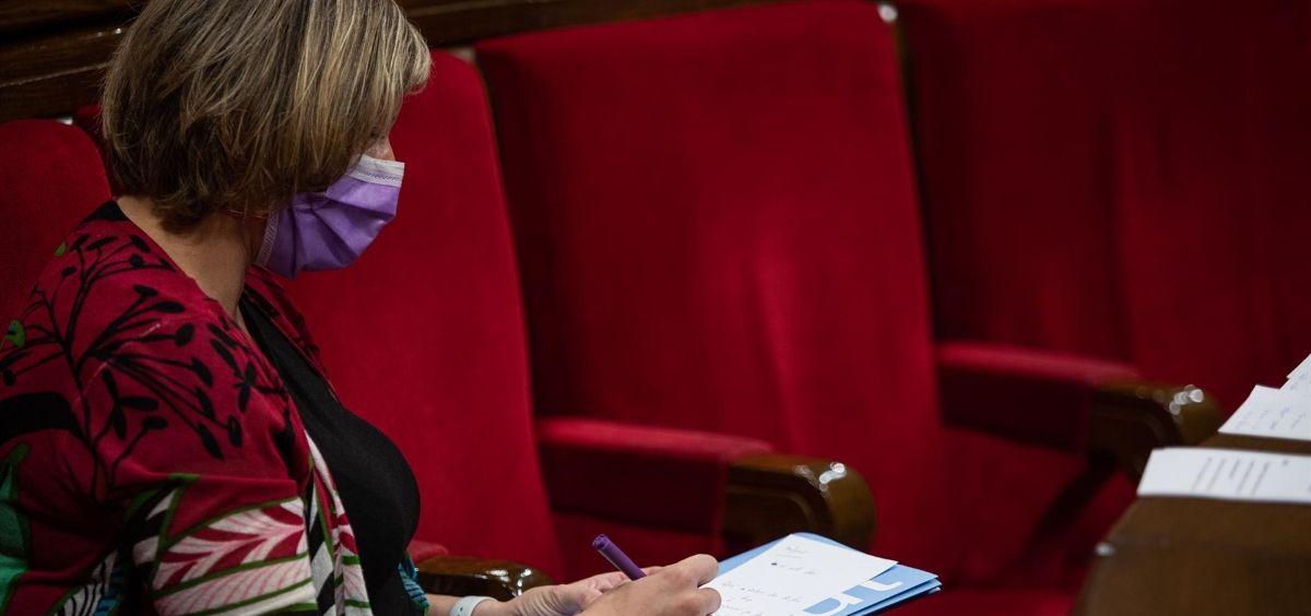 La consejera de Salud de la Generalitat, Alba Vergés. (Foto. Pau Venteo   Europa Press)