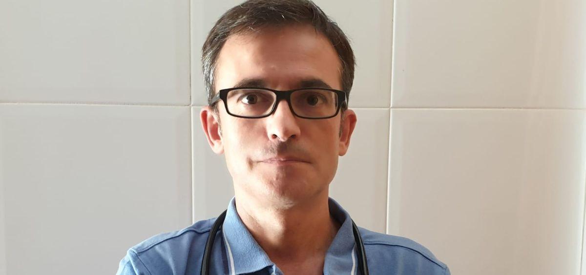 José Ángel Montañés, responsable sindical de Metges de Catalunya en Lleida. (Foto. J.A.M)