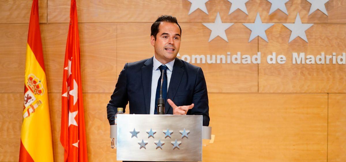 Ignacio Aguado, vicepresidente de la Comunidad de Madrid (Foto. Comunidad de Madrid)