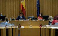 El ministro de Sanidad, Salvador Illa, comparece ante la Comisión de Sanidad y Consumo (Foto. Congreso de los Diputados)
