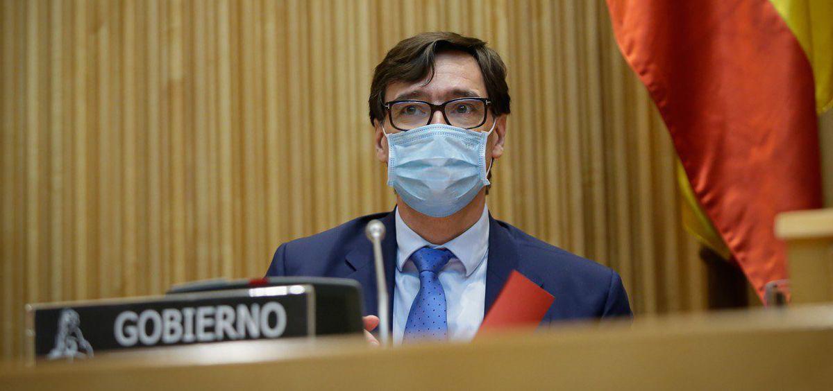 Salvador Illa, ministro de Sanidad, en la Comisión de Sanidad del Congreso de los Diputados (Foto: Congreso de los Diputados)