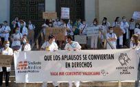 Protesta del colectivo MIR. (Foto. Europa Press)