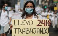 Manifestación de los MIR en Madrid. (Foto. Eduardo Parra   Europa Press)