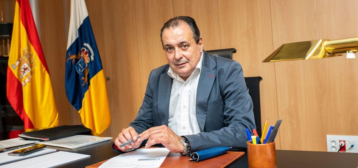 El consejero de Sanidad de Canarias, Blas Trujillo. (Foto. Gobierno de Canarias)