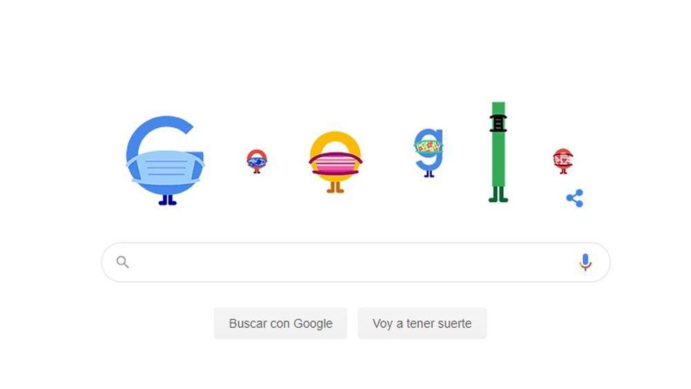 Google recuerda con su ''doodle'' la importancia de llevar mascarilla