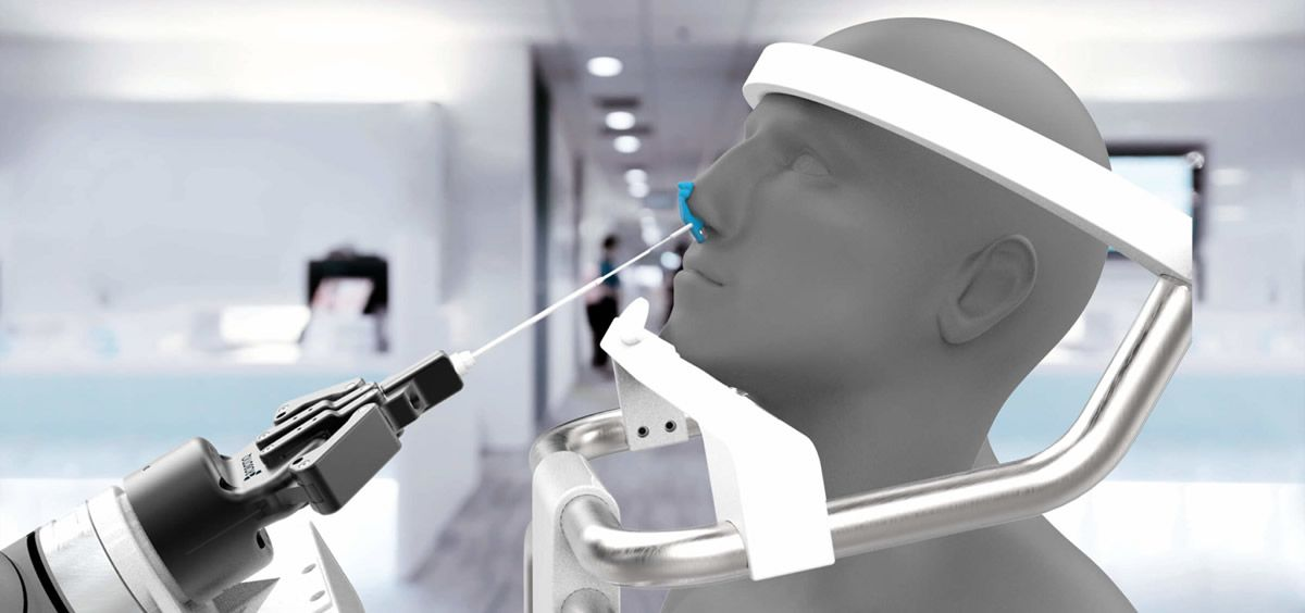 Robot de Frotis Nasal. (Foto. Brain Navi Biotechnology)