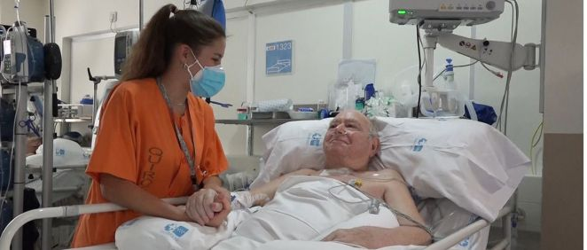 Pedro Gamella, de 77 años, ha estado 144 días en la UCI (Foto. ConSalud)