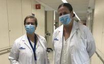 Dra. Mercedes Velasco y la Dra. Rosa Burgos (Foto. Vall d'Hebron)