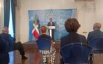 Comparecencia del Lehendakari, Iñigo Urkullu, tras el Consejo de Gobierno celebrado este martes en el Palacio de Miramar de San Sebastián (Foto. EP)