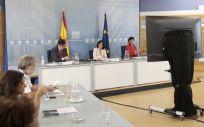 Reunión de la Conferencia Multisectorial de Sanidad y Educación con las comunidades autónomas (Foto: Pool Moncloa / José María Cuadrado)